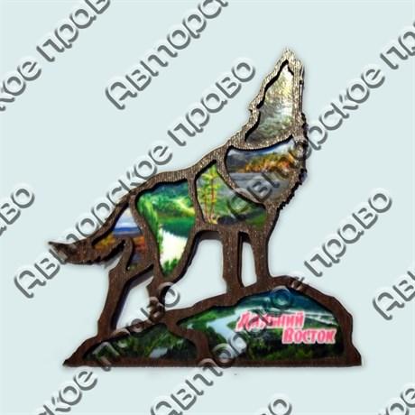 Купить магнитик волк коллаж Дальний Восток с видами - фото 10348