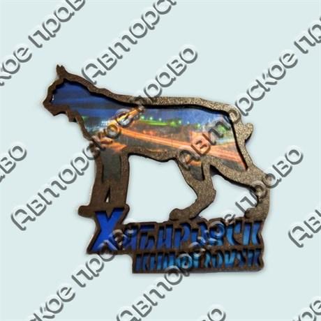 Купить магнитик Рысь коллаж Хабаровск с видами города - фото 10454