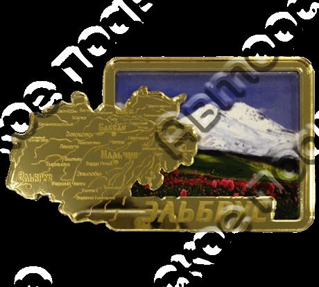 Магнит Карта с видами Вашего города Квадратный зеркальный золото - фото 36732