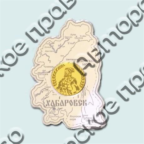 Купить магнитик зеркальный комбинированный карта с монетой - фото 4663