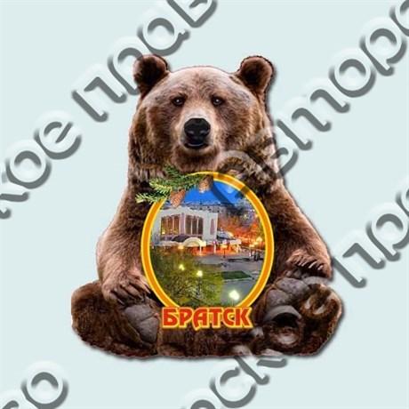 Купить магнитик Медведь с символом вашего города - фото 4698