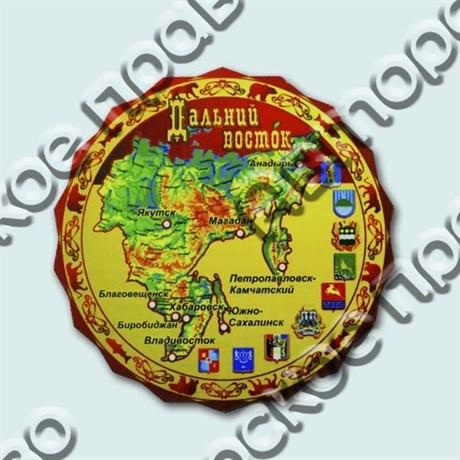Купить магнитик однослойный Карта на форме с символом вашего города - фото 4717
