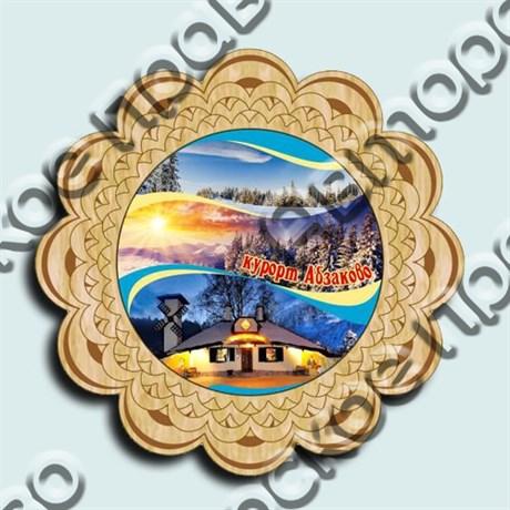 Магнитик тарелка-панно 150 мм №3 Абзаково  - фото 5064