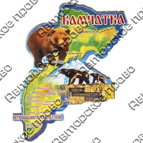 Магнит 1-слойный Карта с достопримечательностями с символикой Вашего города - фото 53499