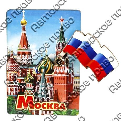 Магнит с подвижной деталью №1 с достопримечательностью города Москва арт 2570 - фото 53528