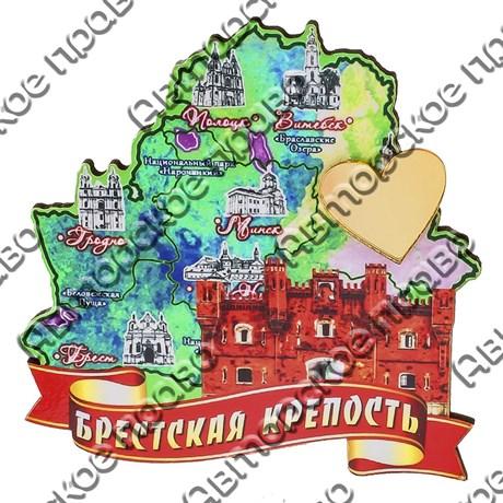 Магнит 1-слойный Карта с достопримечательностями Вашего города и зеркальной фурнитурой - фото 53604