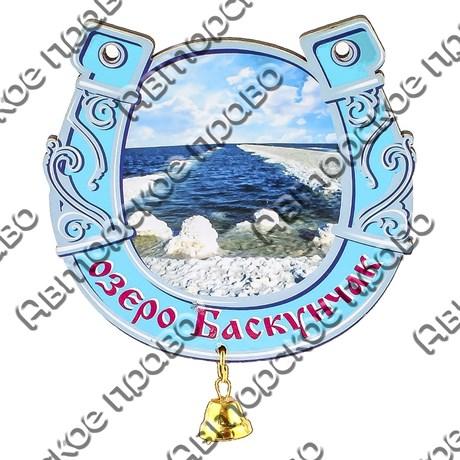 Магнит 1-слойный Подкова с видами Вашего города с подвесным колокольчиком - фото 53739