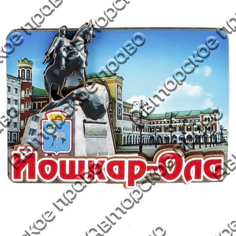 Магнитик 2-хслойный Вид города с достопримечательностью и символикой Вашего города - фото 54429