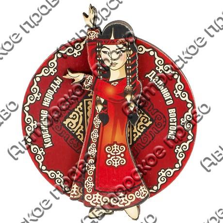 Магнитик 2-хслойный Коренные народы севера вид 9 с символикой Вашего города - фото 54508