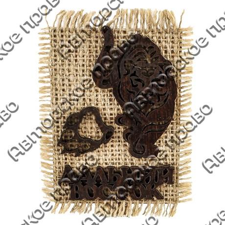 "Магнит на мешковине ""Тигр"" №2 с символикой Вашего города - фото 54616"