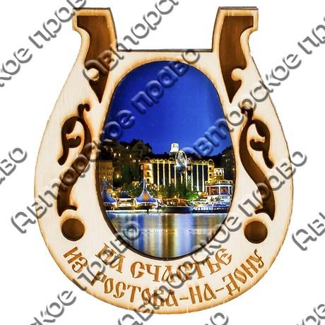 """Магнит с гравировкой """"Подкова"""" №1 с символикой Вашего города - фото 54633"""