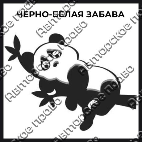 Магнит черно-белый с подвижными глазками Панда вид 5 - фото 55544
