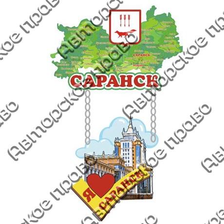Магнит качели Карта с достопримечательностями Саранска вид 1 - фото 60256