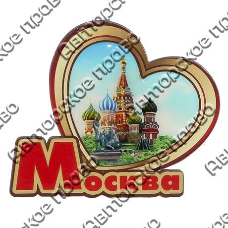 Магнит со смолой Сердце с символикой Вашего города - фото 69311