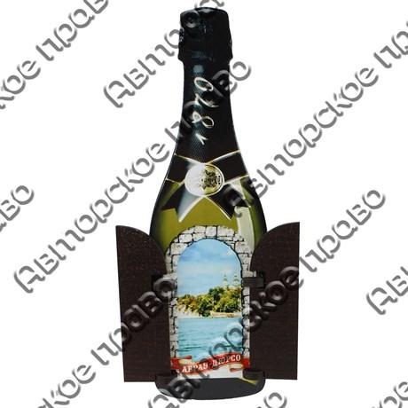 Магнит с подвижными деталями Бутылка с символикой Абрау-Дюрсо - фото 70389