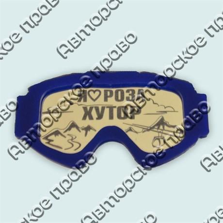 Купить магнитик зеркальный двухслойный горнолыжная маска с названием города - фото 9140