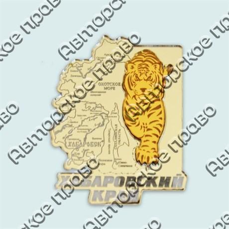 Купить магнитик зеркальный комбинированный серебряная карта с тигром - фото 9302