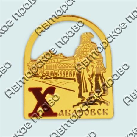 Купить магнитик зеркальный комбинированный золотая арка с видами города и памятником - фото 9905
