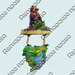 Купить магнитик качели Дальний Восток медведь с картой