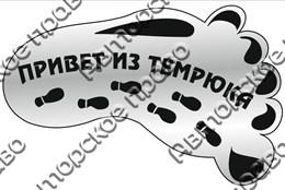 """Магнит зеркальный 1-цветный """"След- привет из"""" серебро Темрюк арт FS000083"""