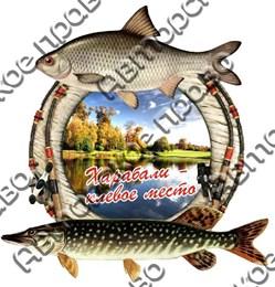 Магнит Рыбы с видами Вашего города 3