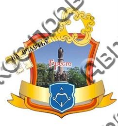 Магнит Рамка красная 2 с видами Вашего города и зеркальным ключем