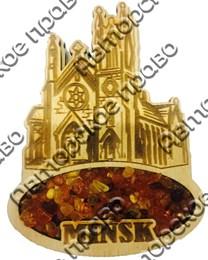 Купить магнитик с янтарем Собор Вашего города