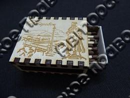 Спичечный коробок на магните с гравировкой