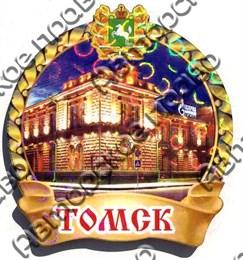 Магнит Арка на ленте с достопримечательностями Томска