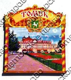Магнит Обзорная форма вид 1 с достопримечательностями Томска