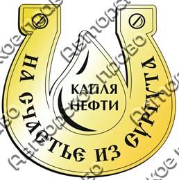Купить магнит зеркальный подкова с каплей нефти Сургут