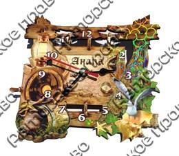 Часы деревянные цветные 4 мф