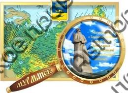 магнит цветной карта с лупой1 г.Мурманск