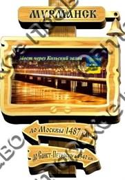магнит цветной указатель с колокольчиком г.Мурманск