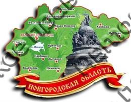 Магнит карта 2-х слойная г.Великий Новгород1