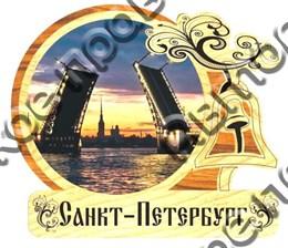 Магнит деревянный с гравировкой Колокольчик г.Санкт-Петербург 3