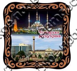 Шкатулка квадратная 130х130х60 мм Чеченская Республика