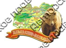 Магнит карта 2-х слойная Карачаево-Черкесия 2