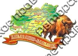 Магнит карта 2-х слойная Карачаево-Черкесия 1