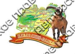Магнит карта 2-х слойная Карачаево-Черкесия 3