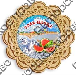 Тарелка панно 1 - 100мм Соль - Илецк
