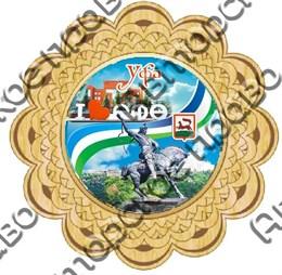 Тарелка-панно 25см вид 3 с символикой Уфы