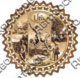 Тарелка-панно 25см вид 1 с достопримечательностями Уфы