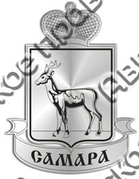Магнит зеркальныйГерб города Самара