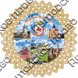 Тарелка-панно 15см вид 1 с символикой Нижнего Новгорода