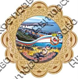 Тарелка-панно 15см вид 3 с видами Нижнего Новгорода
