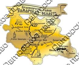 магнит зеркальный Карта Чапаевск