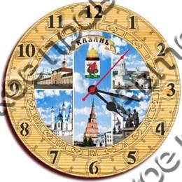Часы деревянные 250мм, г.Казань 1