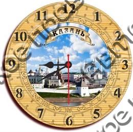 Часы деревянные 150мм, г.Казань 1