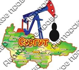 Купить магнит из дерева цветной с каплей нефти Сургут 2